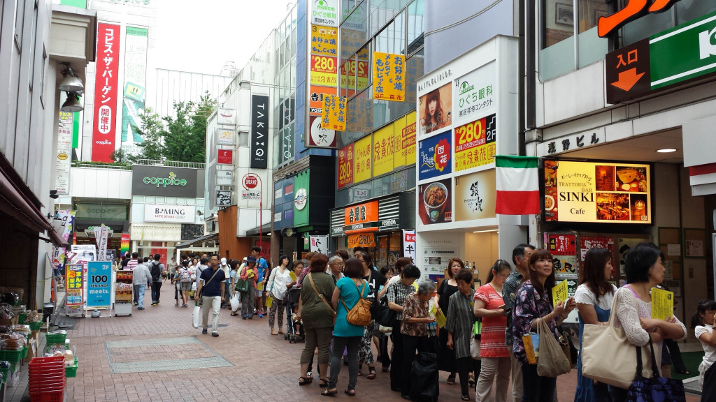Long line for famous Matsuzaka croquette