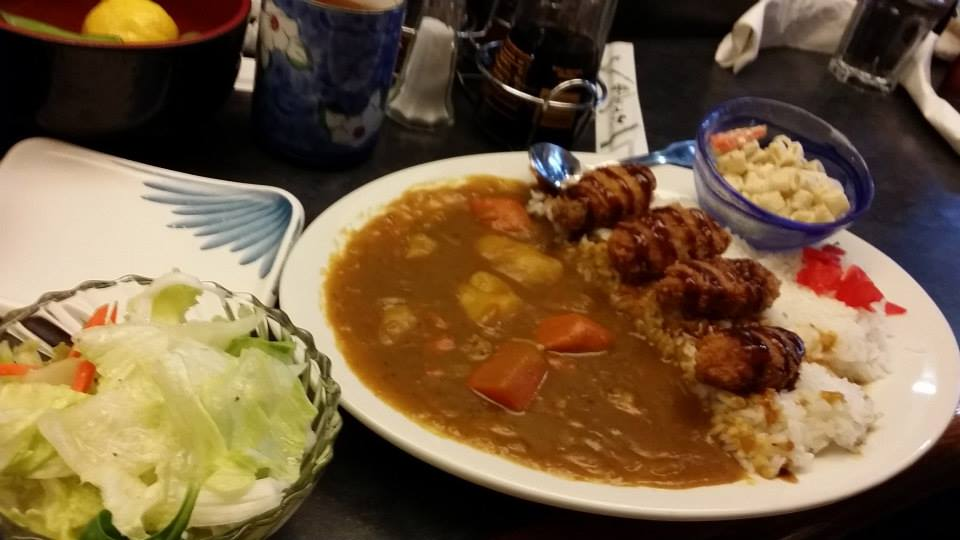 Hiroshima Kaki- fry Curry Rice ( Oyster) set